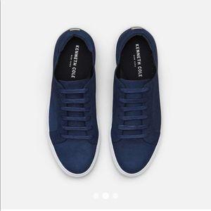 KENNETH COLE Kam Navy Leather Sneaker SZ 9.5